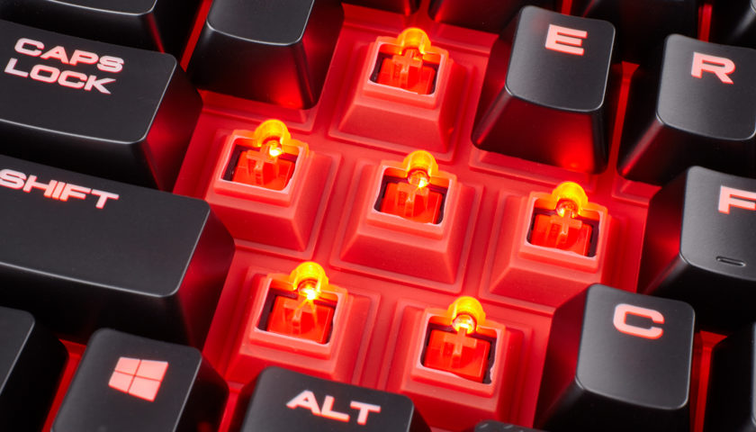 Corsair K68 is built to resist spills and crumbs while you game