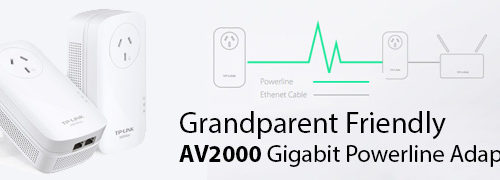 Grandparent Friendly AV2000 Powerline Adapter